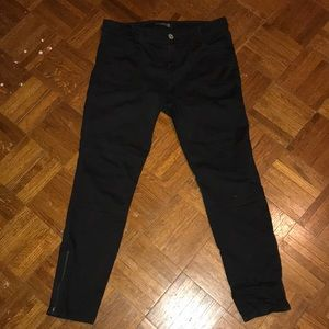 Express Pants - Black express skinny cargo jeans